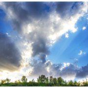 آسمان سردشت در هنگام غروب