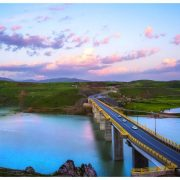 طبیعت دریاچه و پل جدید سردشت